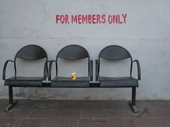 Reserved Seating (Artiii) Tags: red 3 cup coffee sign bench three tea seat newdelhi members lipton formembersonly