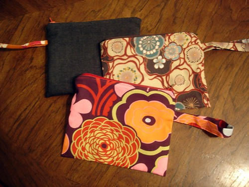 zippered wristlets