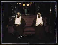Amir Khalid and Amir Faisal (left to right), s...