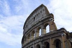 The Colosseum Under a Blue Sky