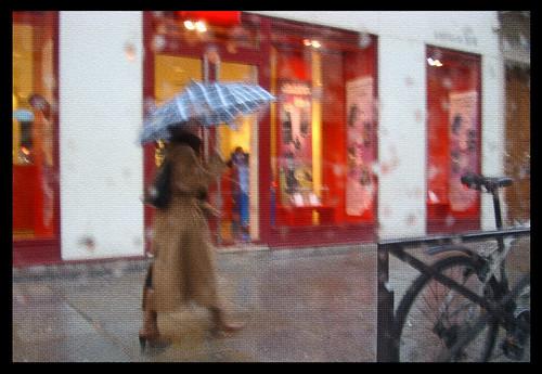 Rivoli sous la pluie aquarelle