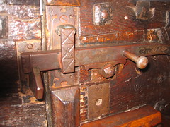 Latch : Burford Church : IMG_3602 (muuranker) Tags: door wood uk iron oxfordshire latch burford doorfurniture