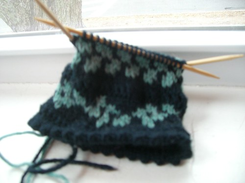 Bird In Hand Right Mitten Progress 1