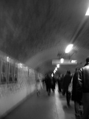 tunnel wm (tjdup) Tags: light sea people blackandwhite london photographer tunnel walkway essex southend waliking procapture