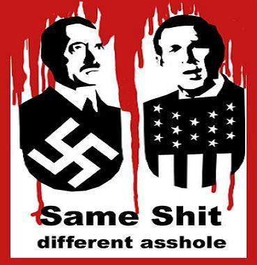 Bush & Hitler = the same