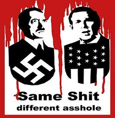 Bush & Hitler = the same