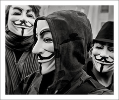Anonymous times three (solarider) Tags: portrait london demo mask protest v masked anonymous vendetta xenu g103395 httpwwwlondonlulzcom httpwwwfacebookcomprofilephpid528866883 httpsolariderorgblog httpsurindersinghorg