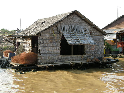House in the Floating Village on lake Tonle Sap