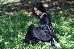Graveyard (jackstonexx) Tags: girl grass gothic blackdress blubells