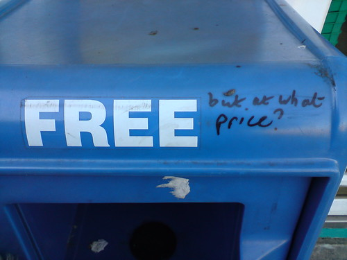 Free (but at what price?) by mistersnappy, on Flickr