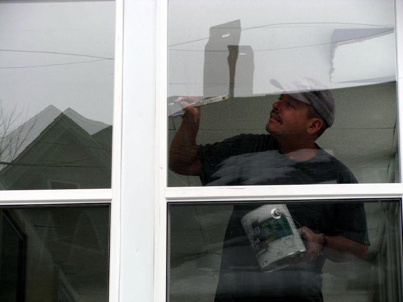Landlord updates tenants porch