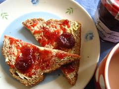 Jam Bread (Attic24) Tags: strawberry tea jam conserve bonnemaman