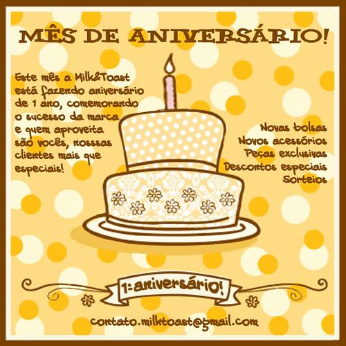 Mês de aniversário!