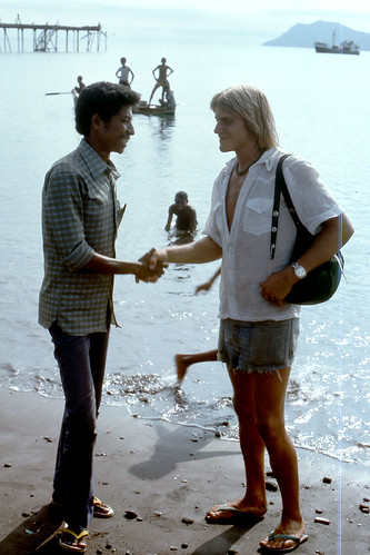Saying goodby to Mich, Timor, Oct 23, 1975