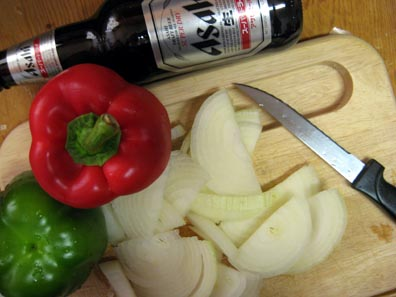 Bell Peppers, Onions, and Beer?