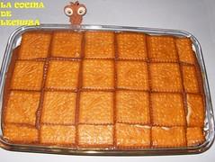 Tarta de galletas-cubrir con gall+