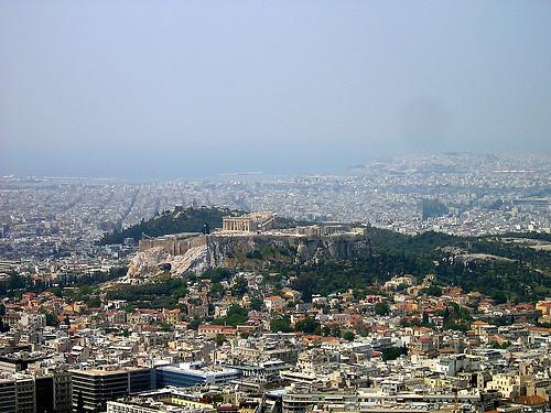 Vista panorámica Atenas, Monte Licabeto