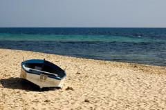 On The Beach (Patrick Costello) Tags: beach d50 boat bravo mediterranean tunisia med hammamet flickrelite