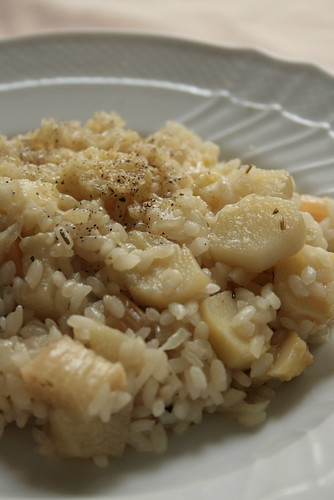 white asparagus risotto