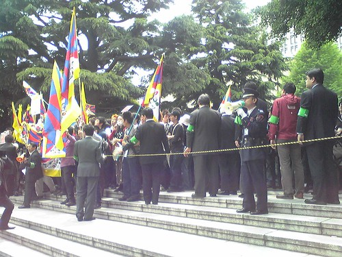 Students' protests during Hu Jintao's Waseda University visit 5