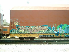 SPLIT FREIGHT 2003 (BOBROSS75) Tags: railroad railcar railfan southernpacific csx rxr monikers benching hobomonikers hobotags hobograff paintedtrainstraingraffitiunionpacificpaintedsteelboxcarsrailboxbnsf reeferswheelsofsteelrailartgoldenwest
