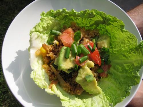 mexi-quinoa cabbage wraps