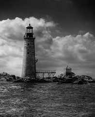 Graves Lighthouse Boston (garreyf) Tags: blackandwhite lighthouse boston canon rebel harbor interestingness interesting 300d rip graves explore canondigitalrebel pca bostonharbor explored bostonphotographer garrey garreyf graveslighthouse pca28
