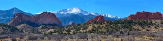 Garden of the Gods Park and Pikes Peak, Colorado Springs, Colorado