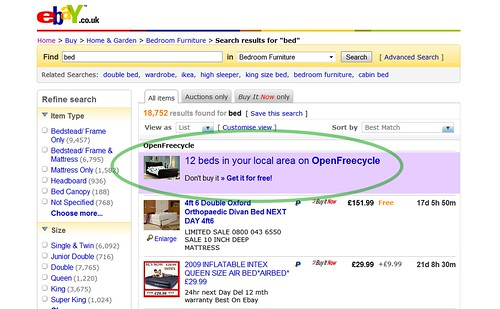 OpenFreecycle on eBay, with Greasemonkey