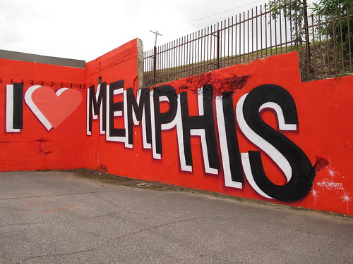 "May 14 - The ""I Love Memphis"" mural"