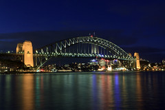 Sydney Harbour Bridge (courseiam) Tags: new bridge wales night harbour south sydney australia sp ii nsw di newsouthwales tamron f28 xr ld sydneyha