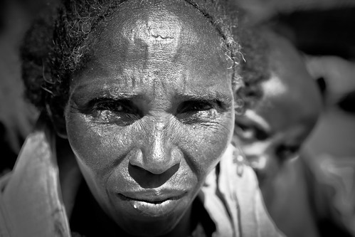 portrait of a lady outside the St. Mary Zion Church-axum-etiopia by ronnyreportage