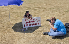 "The Photographer and the Protester • <a style=""font-size:0.8em;"" href=""http://www.flickr.com/photos/45090765@N05/5805005869/"" target=""_blank"">View on Flickr</a>"