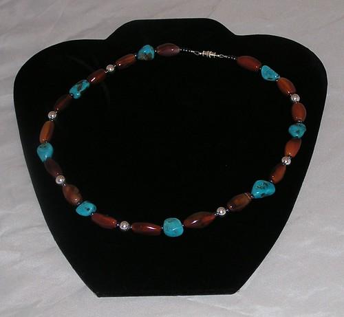 Carnelian & Turquoise Choker Necklace