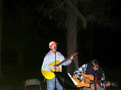 Denny and Paul (dcheath8) Tags: party music outdoors guitars
