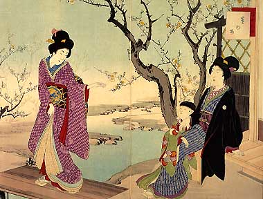 Japnese Woodblock Print from 1903