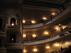 Fitzgerald Theater (Inside), night of Ann Patchett, author of Bel Canto and Truth & Beauty; A Friendship, on MPR's Talking Volumes, St. Paul. Minnesota, October 2007, photo © 2007 by QuoinMonkey. All rights reserved.