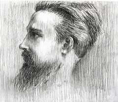 me: bearded man profile, pencil drawing (freeparking :-|) Tags: portrait man pencil drawing profile bearded