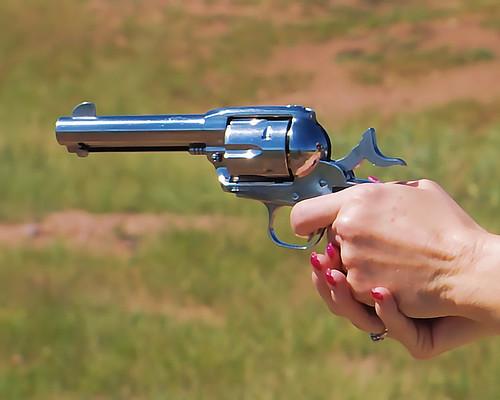 pink nail polishes. Rueger 45 Colt/Pink nail