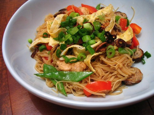 Stir fried rice vermicelli