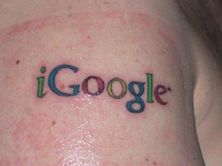 iGoogle Tattoo