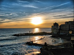 Admiring the sunset (klausthebest) Tags: sunset sea sky italy panorama woman cloud sun seascape girl skyline atardecer donna italia tramonto nuvole mare village harbour liguria porto cielo sole breathtaking bogliasco italians ragazza citt orizzonte smrgsbord nubi fpc villaggio wonderworld blueribbonwinner supershot 50faves 25faves golddragon mywinners abigfave worldbest platinumphoto anawesomeshot impressedbeauty aplusphoto holidaysvacanzeurlaub 200750plusfaves superbmasterpiece diamondclassphotographer superhearts ysplix searchandreward theunforgettablepictures photofaceoffwinner platinumheartaward theperfectphotographer thegardenofzen thegoldendreams grandemaregroup