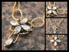 "Collier ""Promesse"" dor pour Giovanna (RollerFabi) Tags: collier gold necklace fdsflickrtoys or giovanna goud ketting delica 24k aurum swarovsky delicas rollerfabi goldenshadow"
