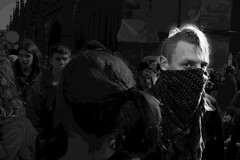 The Look (blabbr) Tags: portrait white black democracy punk propaganda politics demonstration violence bern left mnster manifestation politic schaf demonstrator svp bwemotions blocher camd70s lens18200mm antisvp setbackhome kitionnet