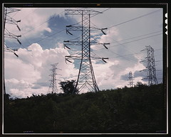Transmission line towers and high tension line...