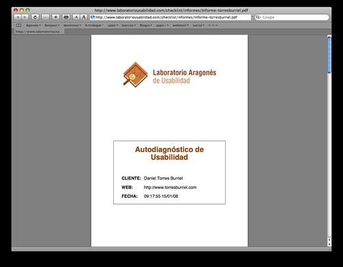 Autodiagnóstico de usabilidad. Informe