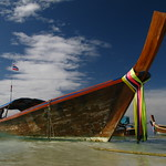 Thailand Beach Longtail Boat Southeast Asia