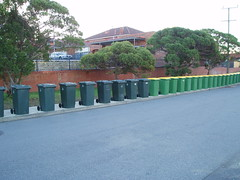 Wheelie Bins on parade (Figgles1) Tags: wheeliebins fremantle