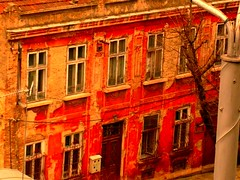red house (Gypsy D) Tags: winter redhouse bulgaria varna
