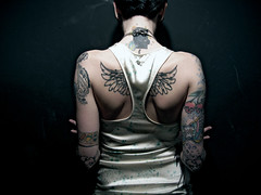 (AnomalousNYC) Tags: show nyc party portrait woman angel sushi back wings topf50 tattoos nightlife topf100 donhills anomalous shoulderblades anomalousnyc showem explore91 saraphim saradactyl flickrunitedaward showsam
